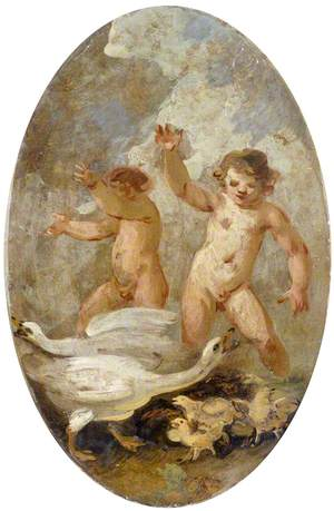 Putti with Geese