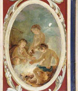 Putti Warming Themselves