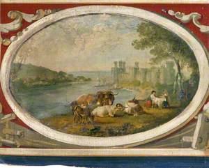 View of Caernarvon Castle