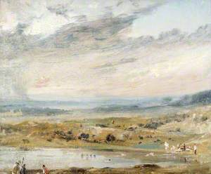 Hampstead Heath, with Pond and Bathers