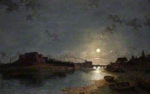Chester Castle by Moonlight