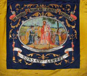Banner from Nuncar Gate Methodist Church