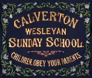 Banner from the Calverton Wesleyan Sunday School