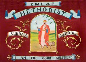 Banner from the Ewloe Methodist Sunday School