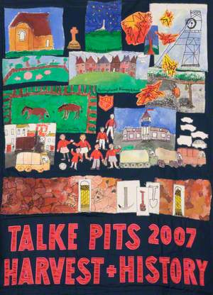 Banner Made by the Children of Springhead Primary School, Talke Pits