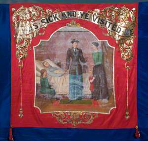 Banner from the Independent Order of Rechabites, Flower of Andover Tent