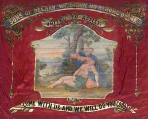 Banner from the Independent Order of Rechabites, Salford Unity, Hope of Andover Tent