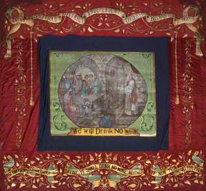 Banner from the Sheffield District Independent Order of Rechabites