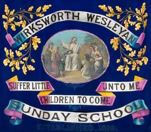 Banner from the Wirksworth Wesleyan Sunday School