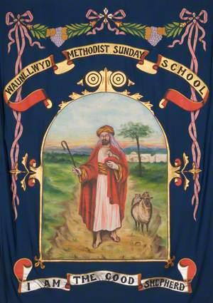 Banner from the Waunllwyd Methodist Sunday School