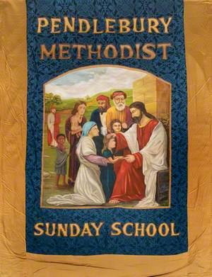 Banner from the Pendlebury Methodist Sunday School