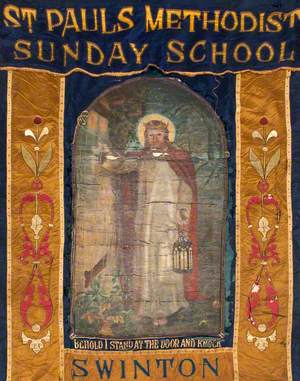 Banner from St Paul's Methodist Sunday School, Swinton
