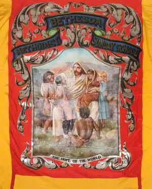 Banner from the Leek Bethesda Methodist Sunday School