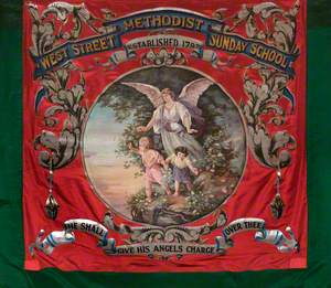 Banner from the Leek West Street Methodist Sunday School