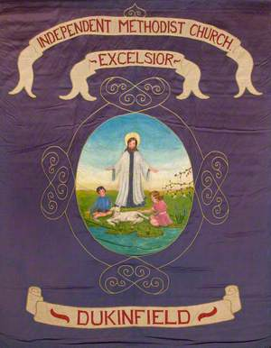 Banner from the Dukinfield Independent Methodist Excelsior Church