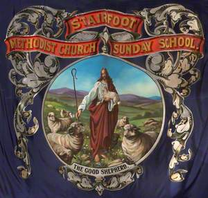 Banner from the Stairfoot Methodist Church Sunday School