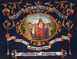 Banner from the Hall Street Primitive Methodist Church, Newton Heath