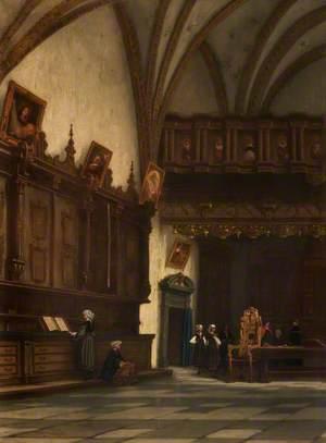 Interior of a Sacristy in Belgium