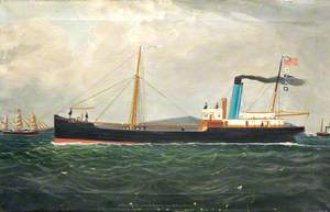 SS 'Saltom' of Liverpool, John Newton off South Stark LCHC, 1913