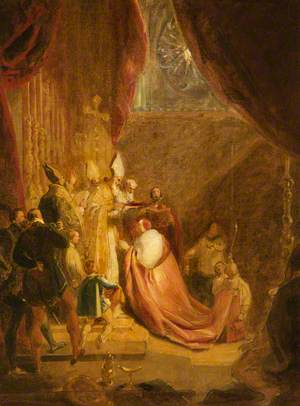 Wolsey Receiving the Cardinal's Hat in Westminster Abbey