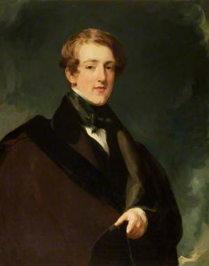 The 2nd Lord de Tabley (1811–1887), in Academic Robes