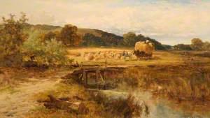 Harvest Scene, near Pangbourne, Berkshire