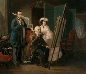 Figures in an Artist's Studio