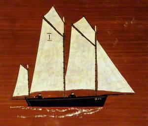 Fishing Schooner 'Oui' with Three Masts