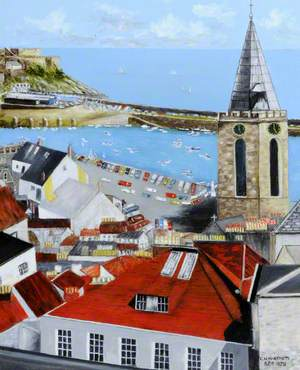 View across the Rooftops of St Peter Port, Guernsey