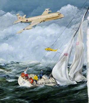 Nimrod MR2P Providing Search and Rescue