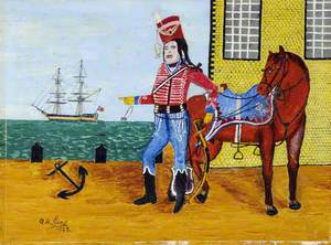 Royal Guernsey Militia Soldier with Horse