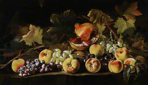 Still Life with Grapes, Peaches and Pomegranates