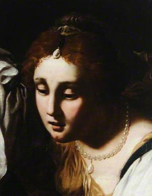 Head of a Woman with Pearls