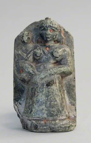 Jasoda with Infant Krishna