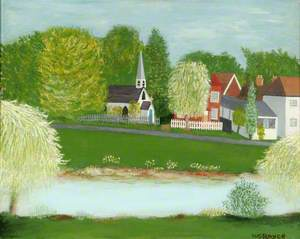 Church and Pond