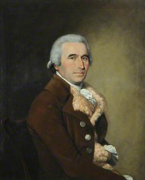 Portrait of a Man in a Brown Coat and a Fleece Waistcoat