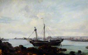 Wreck of the Brig 'Caroline', St Clement's, Jersey