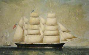 The 'Champion' off a Coast and Lighthouse