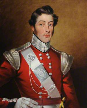 Officer of the 4th, or St Lawrence Battalion, of the Royal Jersey Militia