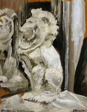 Alfred Stevens Lion Cast Painting Lesson