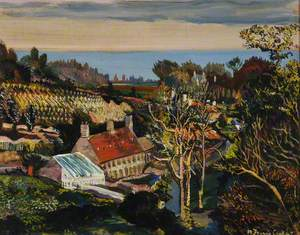 A Valley Farm above Grouville, Queen's Valley, Jersey