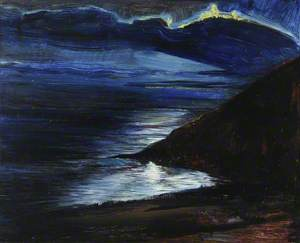 View from My Studio at Night at Porthallow House, Talland Bay
