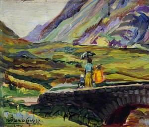 Scene in Glencoe Pass, Scotland, in the Summer of 1937