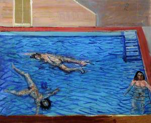The Pool with Bathers