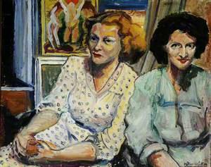 Two Friends in My Studio, Mont de la Rocque, St Aubin's