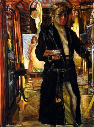 Self Portrait in a Dressing Gown in His Studio