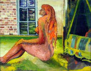 Unfinished Study of a Nude by the Swing Seat at Le Coin