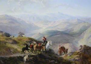 Muleteers in the Apennines