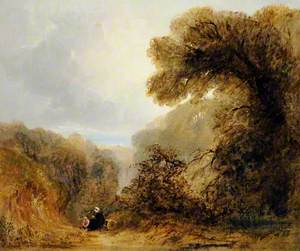 Wooded Scene with a View to the Sea