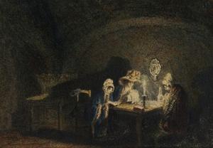 Interior – Three Women in Candlelight